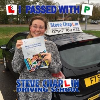 Emma Jesson from Ilkeston PASSED on 12/10/2018 at Watnall Driving Test Centre