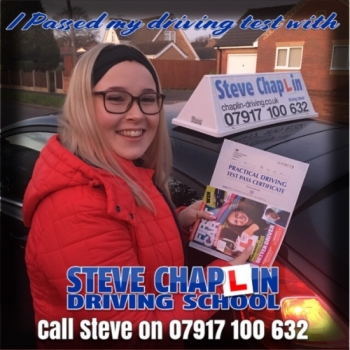 Elayna Middleton from Ilkeston PASSED on 09/01/2019 at Watnall Driving Test Centre