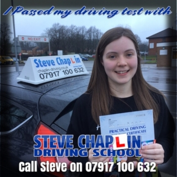 Katie Sloan from West Hallam PASSED on 04/02/2019 at Watnall Driving Test Centre