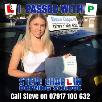 Chloe Upton from Ilkeston PASSED on 18/09/2019 at Watnall Driving Test Centre