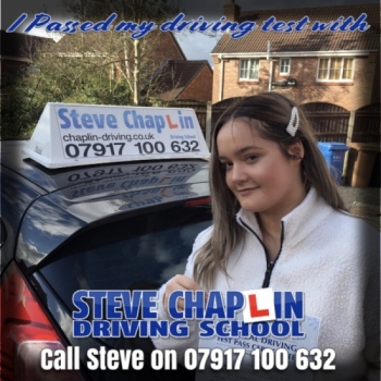 Holly Renshaw from Ilkeston PASSED on 25/02/2020 at Chilwell Driving Test Centre