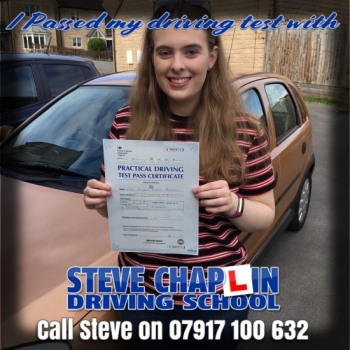 Amelia Burton from Heanor PASSED on 20/08/2018 at Watnall Driving Test Centre