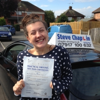 Amy Redfern from Awsworth PASSED on 21/09/2016 at Watnall Driving Test Centre