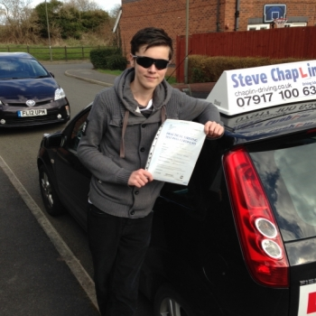 Brad Entwistle from Ilkeston PASSED on 27/03/2015 at Watnall Driving Test Centre