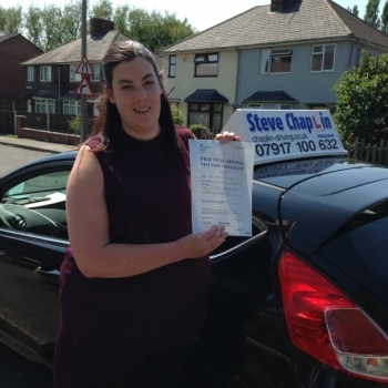 Caroline Hibbs from Heanor PASSED on 06/06/2016 at Watnall Driving Test Centre