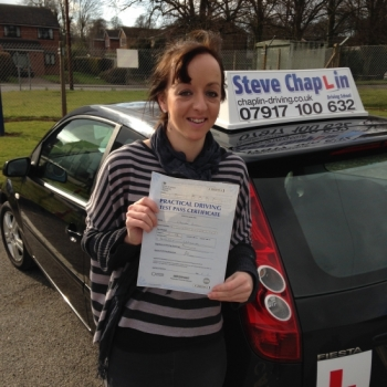 Cherelle Simpkin from Ilkeston PASSED on 14/03/2015 at Watnall Driving Test Centre