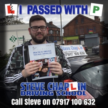 Ronan Woolley from Ilkeston PASSED on 23/10/2019 at Watnall Driving Test Centre