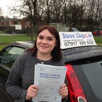 Emily Davis from Ilkeston PASSED on 04/01/2016 at Watnall Driving Test Centre