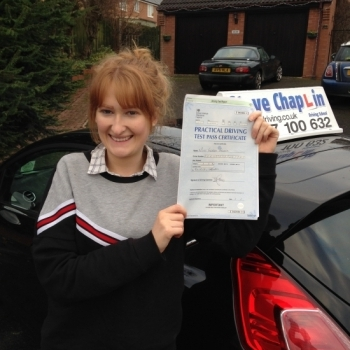 Georgia Arnold from Stanley Common PASSED on 20/12/2016 at Watnall Driving Test Centre