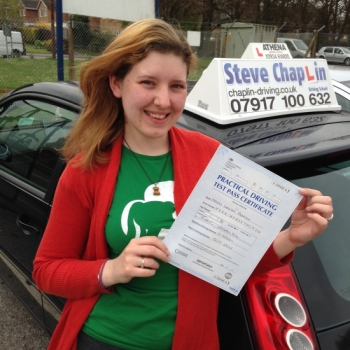 Helen Parrish from Heanor PASSED on 16/04/2015 at Watnall Driving Test Centre