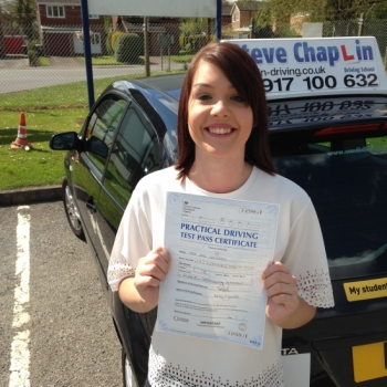 Jade Jackson from Ilkeston PASSED on 27/04/2015 at Watnall Driving Test Centre