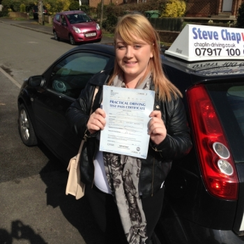Jazmin Stone-Saunders from Heanor PASSED on 30/03/2015 at Watnall Driving Test Centre