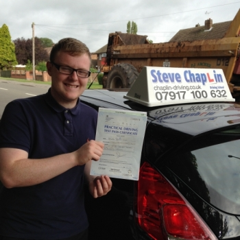 Joseph Owen from West Hallam PASSED on 09/09/2016 at Watnall Driving Test Centre
