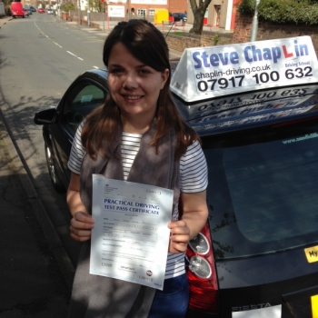 Katie Bloor from Nottinghamshire PASSED on 13/04/2015 at Beeston Driving Test Centre