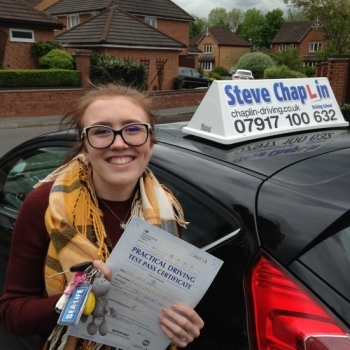 Katy Martin from Ilkeston PASSED on 20/05/2016 at Buxton Driving Test Centre