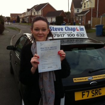 Kim Doubleday from Ilkeston PASSED on 06/03/2015 at Beeston Driving Test Centre