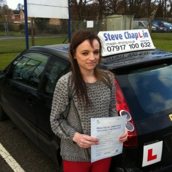 Laura Malpass from Ilkeston PASSED on 24/02/2015 at Watnall Driving Test Centre