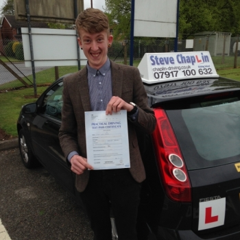 Liam Parker from Kimberley, Nottinghamshire PASSED on 06/05/2015 at Watnall Driving Test Centre
