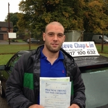 Matthew Chauntry from Newthorpe, Nottinghamshire PASSED on 21/09/2015 at Watnall Driving Test Centre