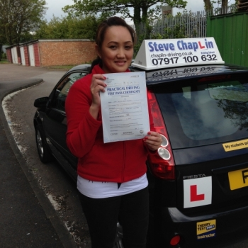 Nedith Mara from Ilkeston PASSED on 11/05/2015 at Watnall Driving Test Centre