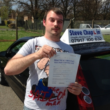 Robert Parker from Heanor PASSED on 20/04/2015 at Watnall Driving Test Centre
