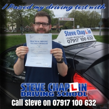 Ryan Frost from Ilkeston PASSED on 03/05/2018 at Watnall Driving Test Centre
