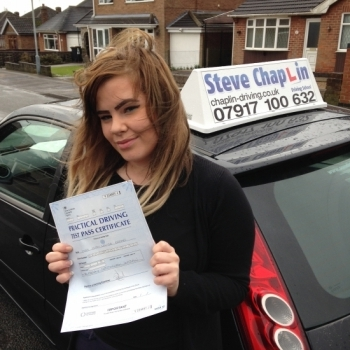 Sian Broad from Heanor PASSED on 01/03/2016 at Watnall Driving Test Centre
