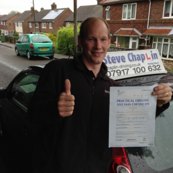 Simon Chippendale-Scott from Derbyshire PASSED on 13/07/2015 at Watnall Driving Test Centre