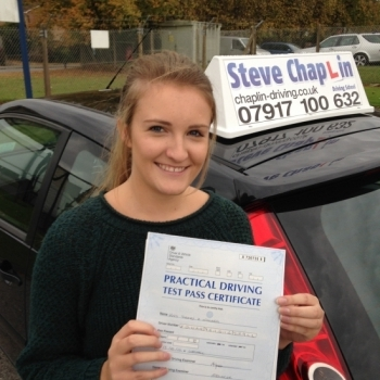 Sinead Edwards from Derbyshire PASSED on 13/10/2015 at Watnall Driving Test Centre