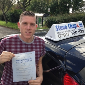 Steven Sweetman from Trowell PASSED on 30/09/2016 at Watnall Driving Test Centre