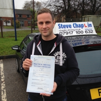 Will Jennison from Nottinghamshire PASSED on 22/11/2016 at Watnall Driving Test Centre