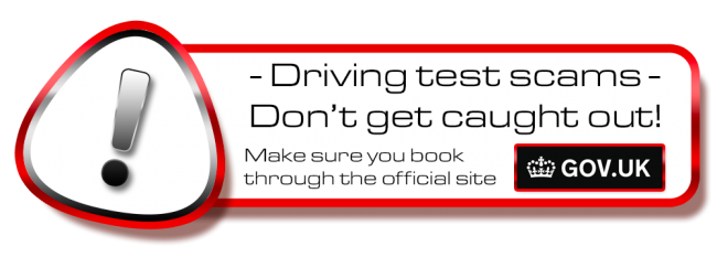 Don´t get scammed! book your theory or driving test in Ilkeston on the .gov site